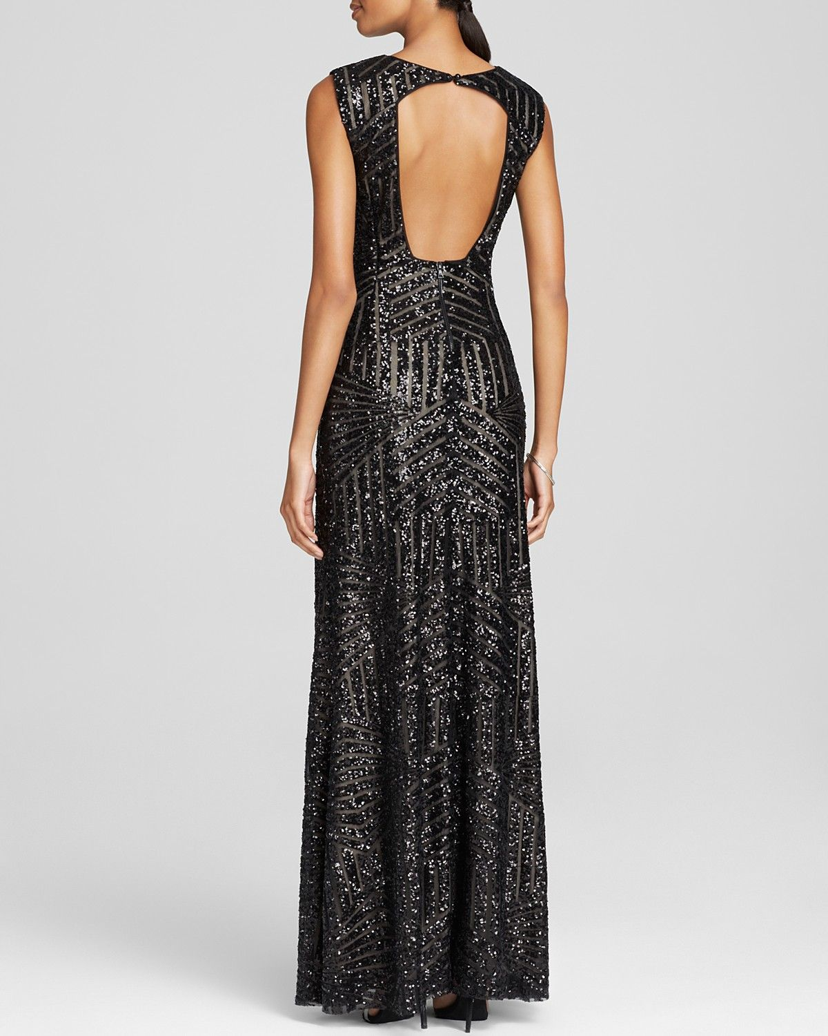 Vera Wang Sleeveless Sequin Embellished Gown - Bloomingdale\'s ...