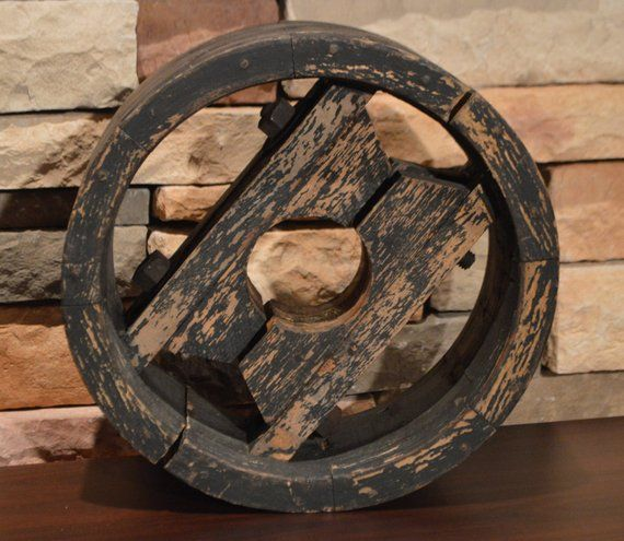 Pin By Sharon Gibson On Vintage Sales Industrial Wood Vintage Industrial Wooden Wheel