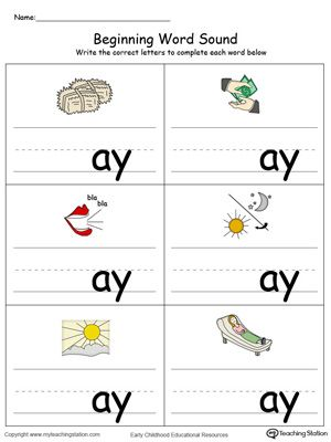 Beginning Word Sound: ET Words in Color | English | Pinterest