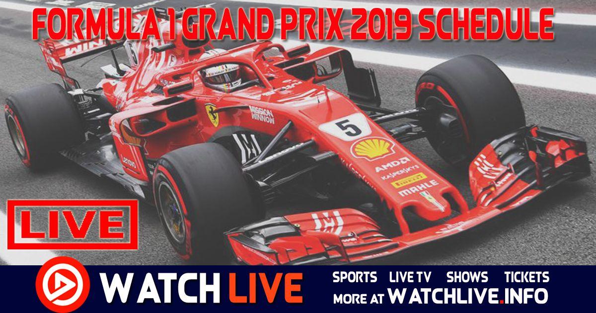 Formula 1 2019 Calendar Schedule Formula 1 Racing Formula 1 Car