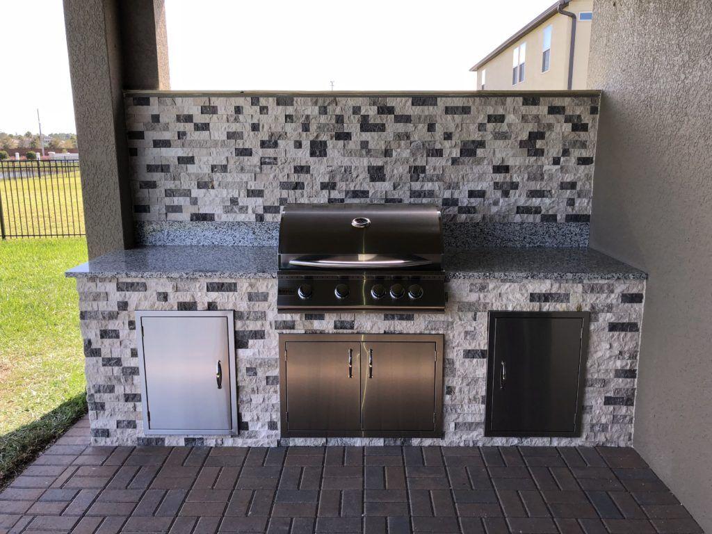 Outdoor Kitchen With Backsplash Outdoor Kitchen Outdoor Living Kitchen Backsplash