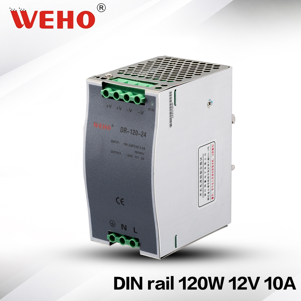 1485 Watch Now Dr 120 12 Stable Dc Voltage Source Din Rail 12v Regulated 220vac To 24vdc Power Supply Using Regulator 10a Switching 120w Aliexpress