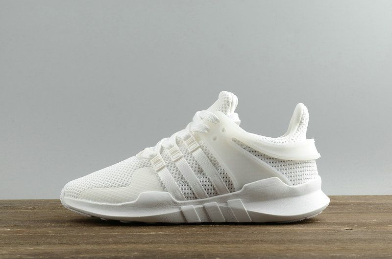 the latest 05b4b e0e05 2018 How To Buy Adidas Originals EQT Support ADV Shoes Triple White blanc  BA8322 Youth Big Boys Sneakers