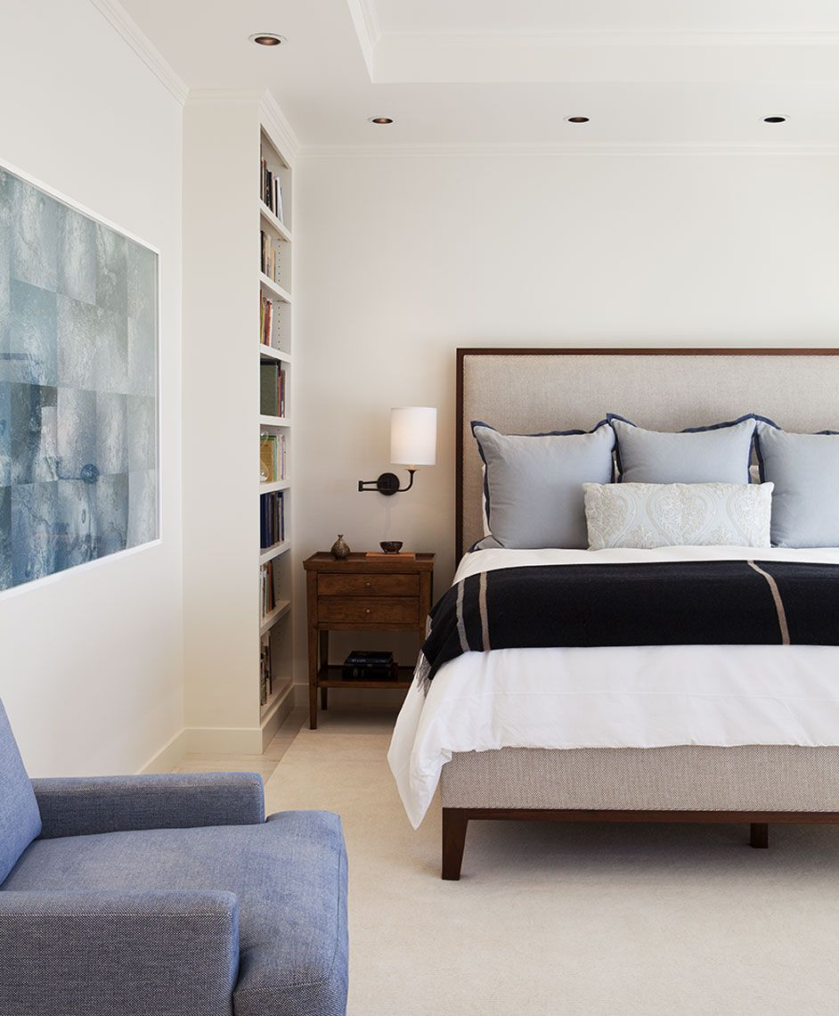 Master bedroom bed  Design Team Heather Hilliard and Fleur Keyes Photography Eric
