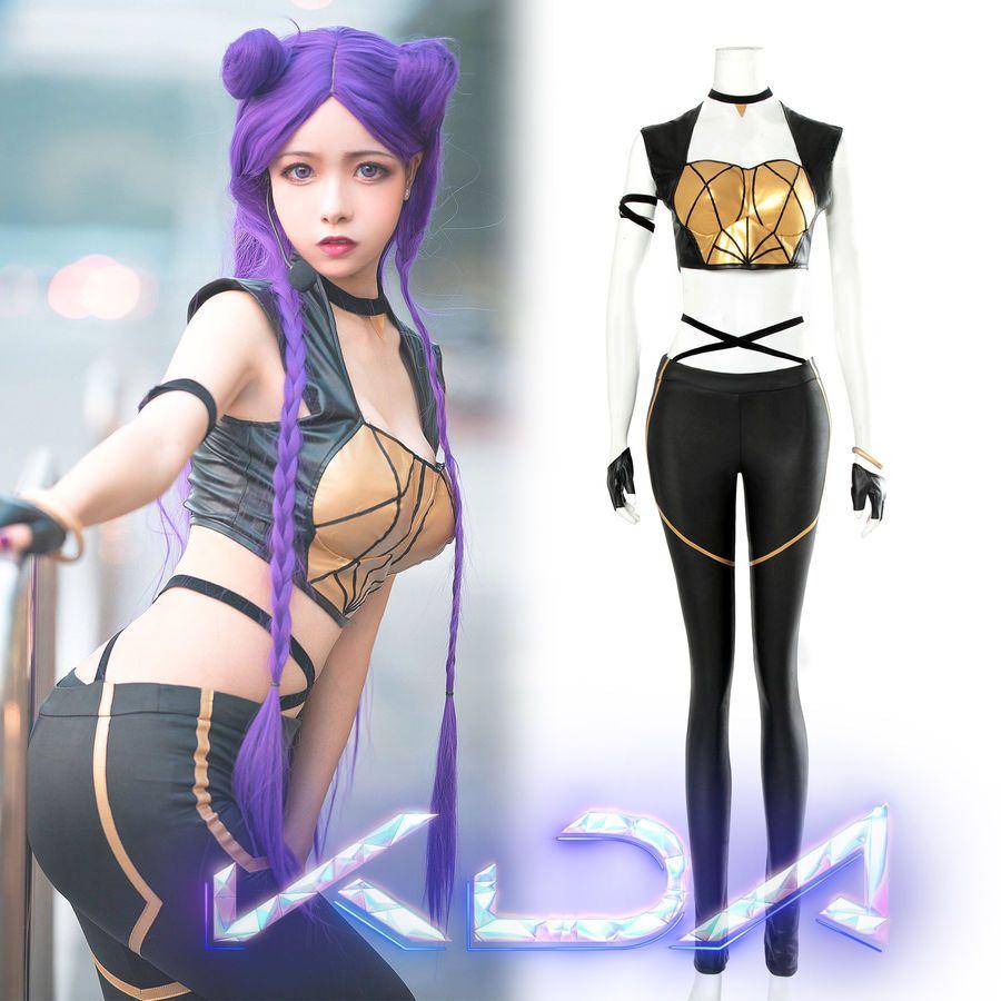 Lol K Da Kda Kaisa Cosplay Costume Pop Stars Suit Outfit Women Fancy