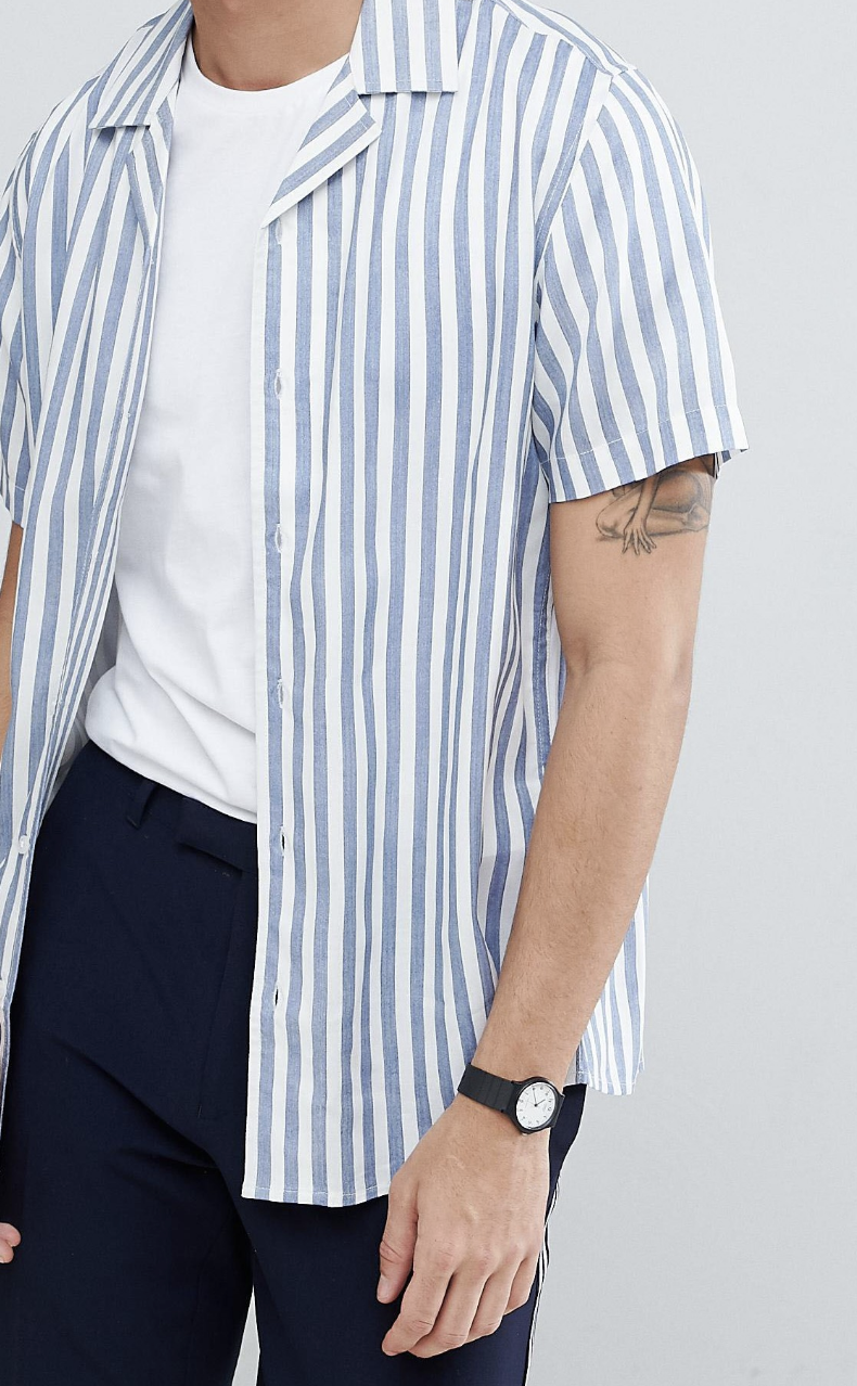 943a2d4f62 On my wishlist : Only & Sons Striped Short Sleeve Shirt With Revere  Collar from