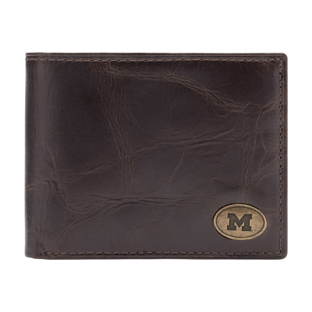 Michigan Wolverines Legacy Traveler Men's Leather Wallet