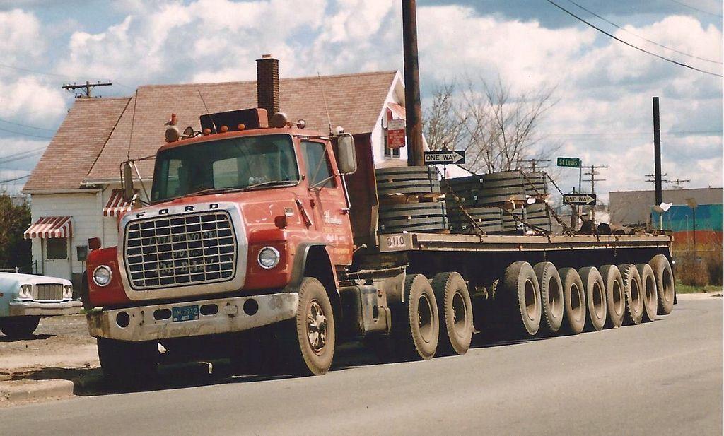 Ford Lnt9000 Steel Hauler Big Trucks Built Truck Truck Transport