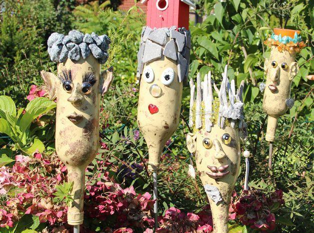 Bildergebnis für gartenstecker holz selber machen garten Gartenstecker, Garten und Garten deko ~ 04211908_Gartendeko Mit Kindern Gestalten
