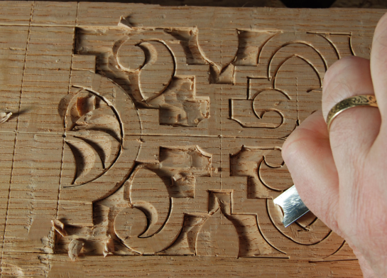 Simple relief carving techniques woodworking session