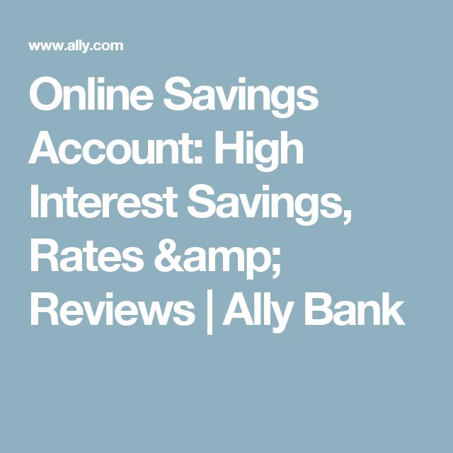 Online Savings Account: High Interest Savings, Rates