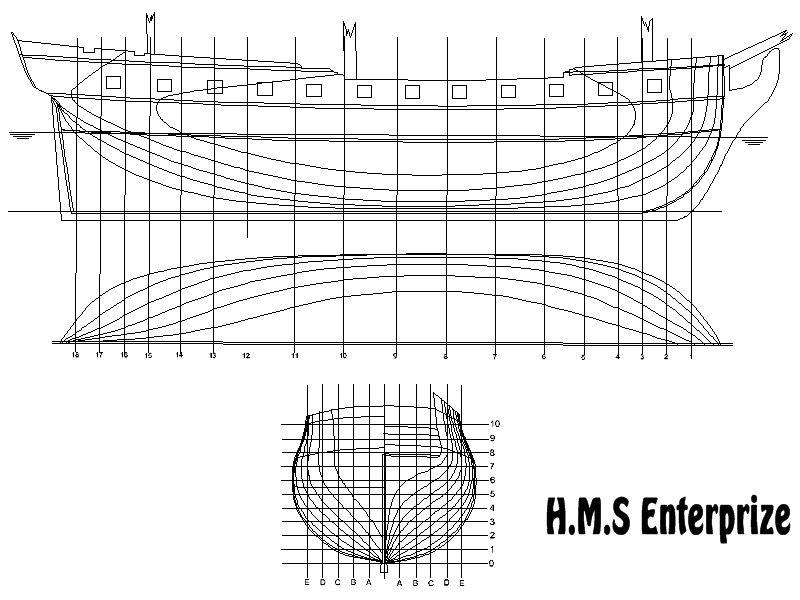 plans HMS Enterprise,free HMS Enterprise plans, free drawings HMS - fresh blueprint builders seattle