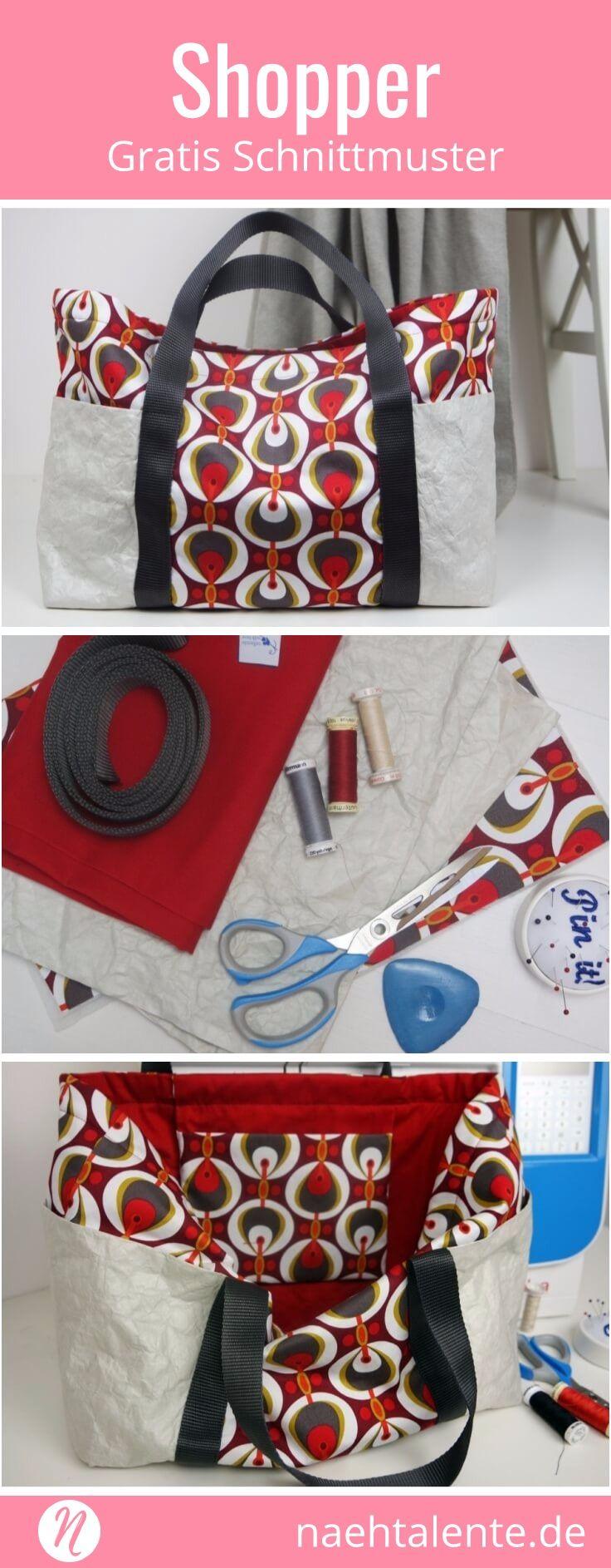 Tasche mit Papierstoff   Gratis schnittmuster, Nähanleitung und ...