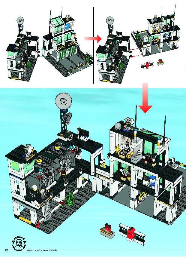 City Police Rescue Police Headquarters Lego 7744 Lego