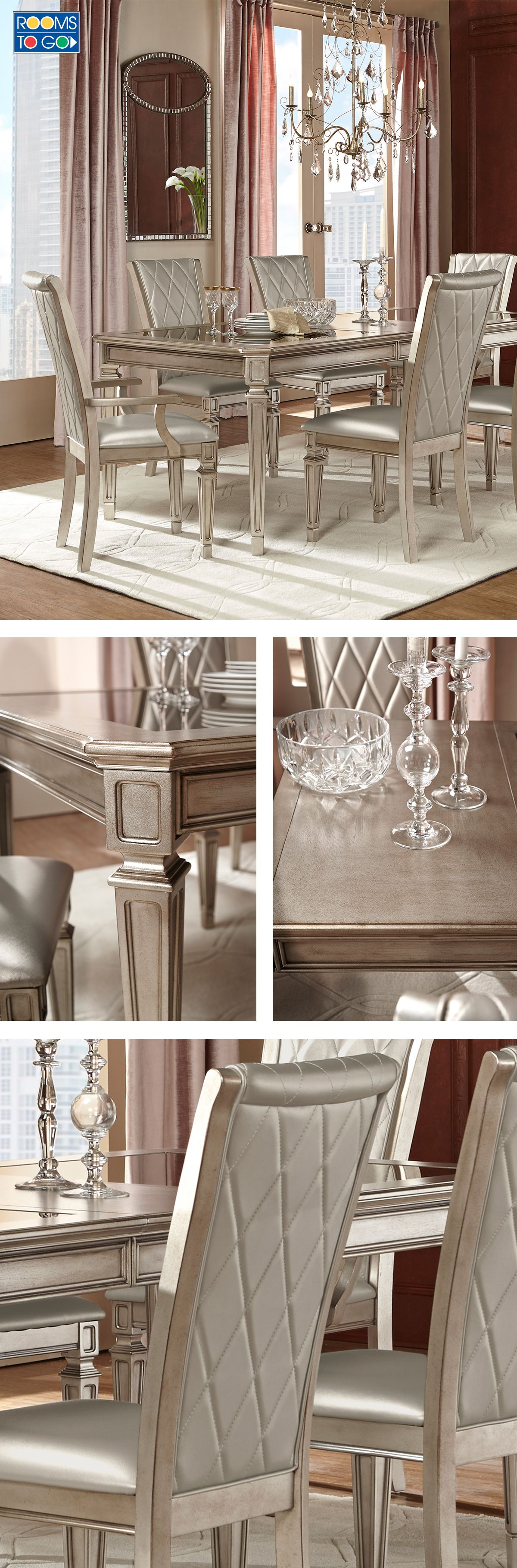 Our Sophie Mirrored Dining Table elegantly reflects its