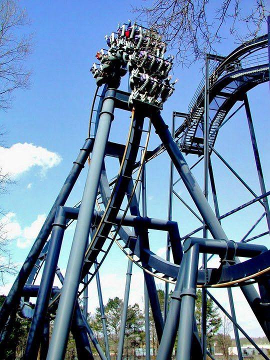 Batman The Ride Six Flags Over Georgia Austell Georgia Usa Scary Roller Coasters Roller Coaster Amusement Park
