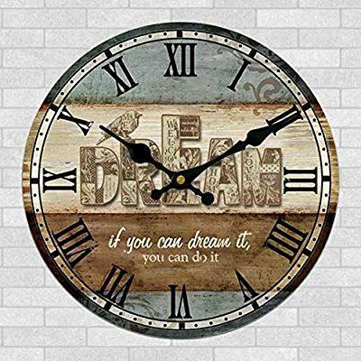 Wanduhr Vintage Vicoki Wanduhr Retro Europaische Uhr Fur Wohnzimmer