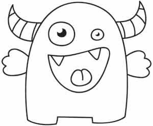 Monstruo Divino Infantil Dibujo Monstruo Monstruos Para