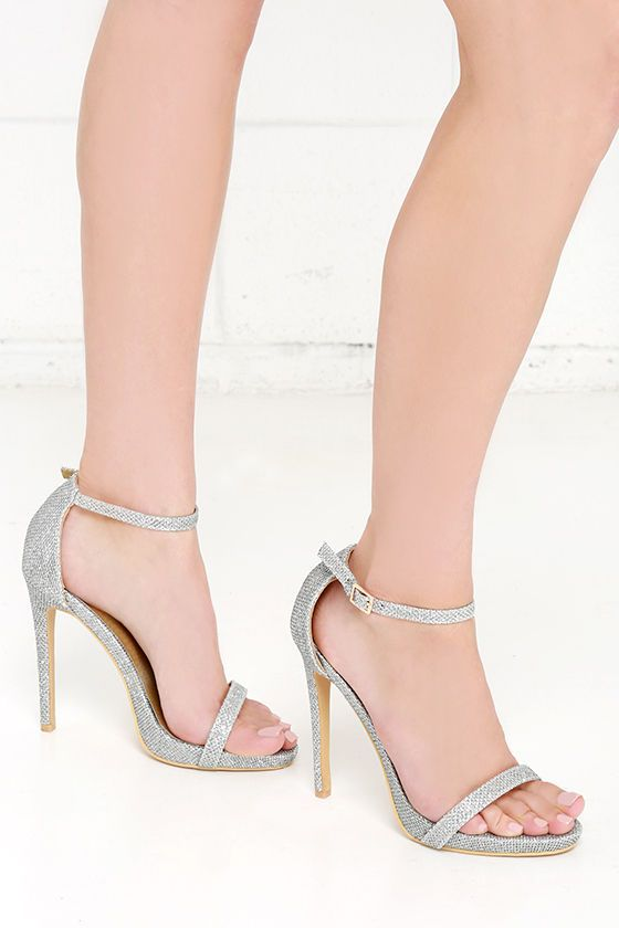 fa70a43c2 Night Away Silver Ankle Strap Heels at Lulus.com!