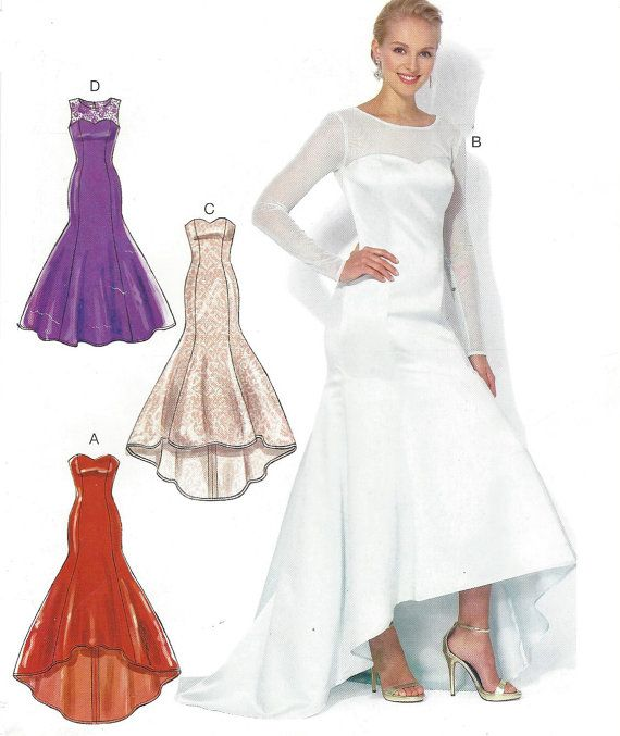 High Low Evening Dress Sewing Pattern
