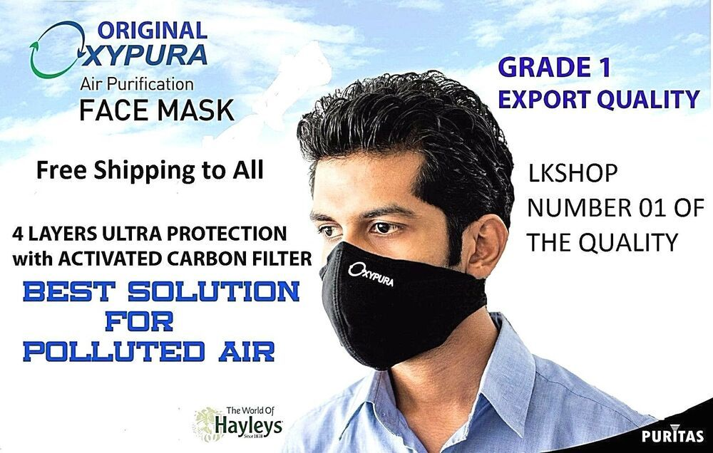 Oxypura Air Purifying Face Mask with activated carbon