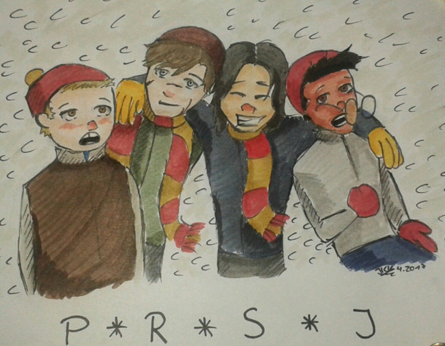 Just a little drawing of the Marauders :)