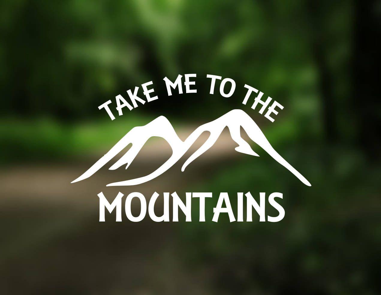 ETIQUETA Llévame a las montañas etiqueta del vinilo Coches