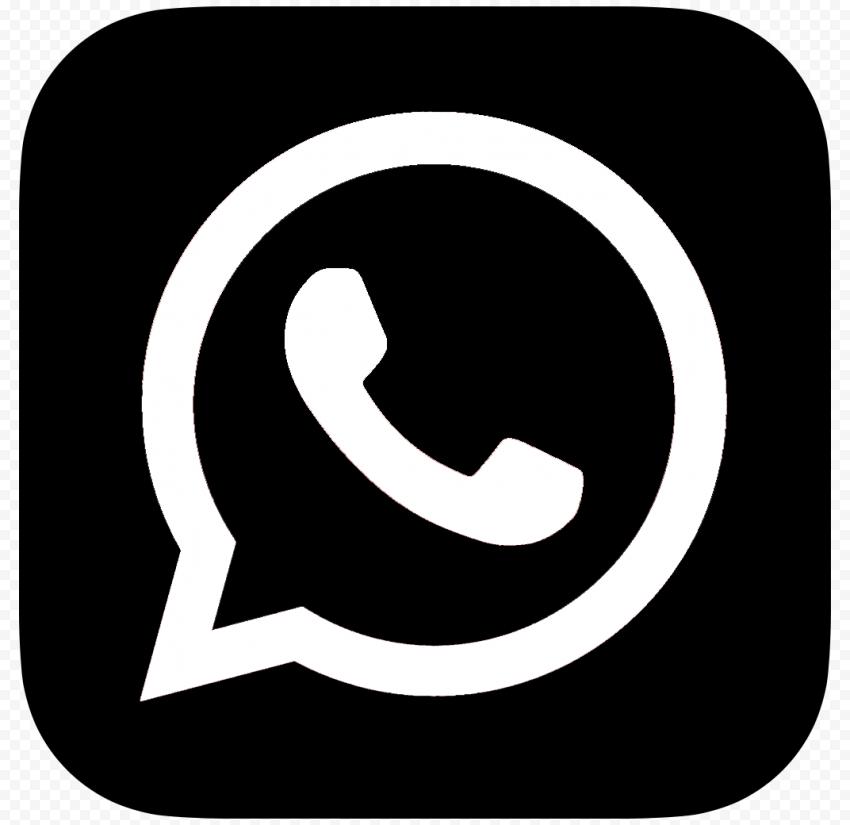 Hd Black And White Whatsapp Whats App Square Logo Icon Png Square Logo Logo Icons Icon
