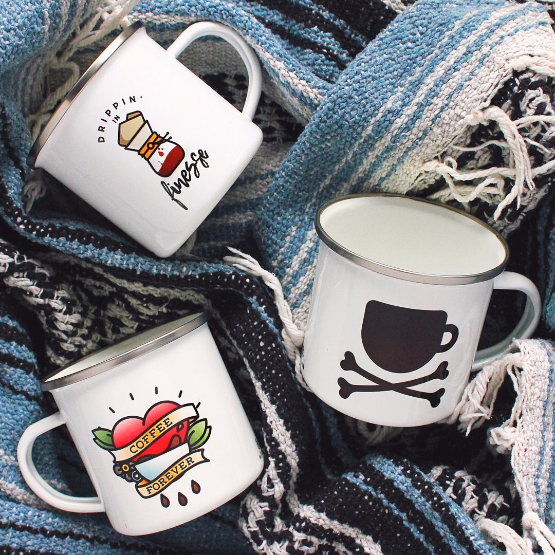 Custom enamel mugs stainless steel and great for camping