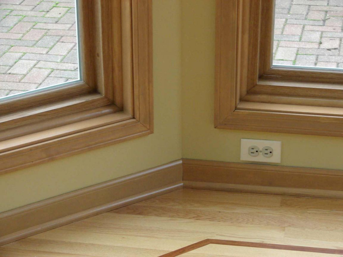 Stained Wood Baseboard Trim Ideas Solid Molding