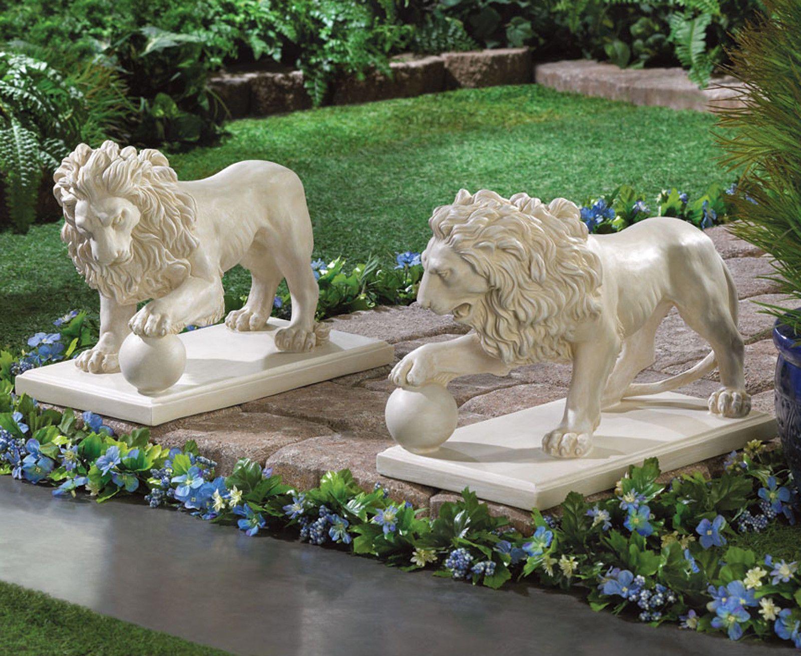 Cool Garden Statues Set Of Two Regal Lion Noble Entrance Statue Duo New Lion Sculpture Statue Garden Statues