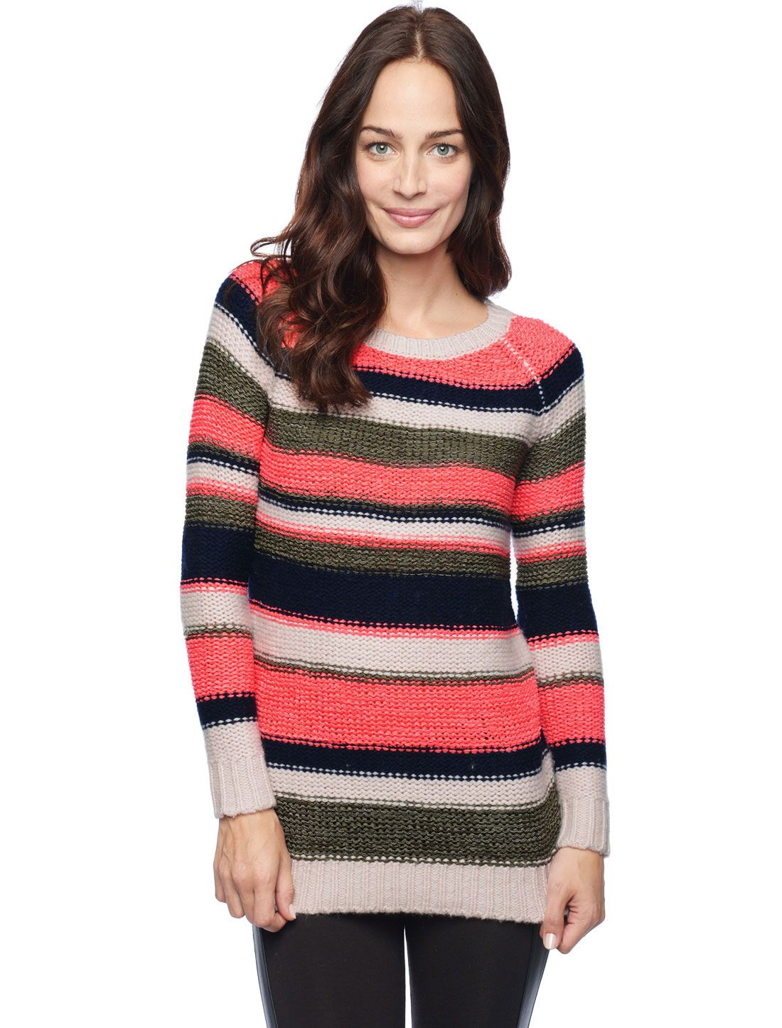 Splendid Official Store, Bleeker Stripe Tunic, neon coral,if only FL was cooler