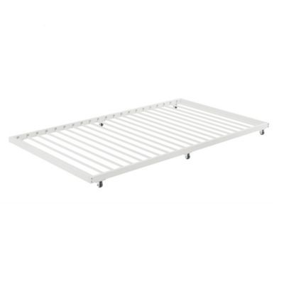 Twin Roll Out Trundle Bed Frame White White Trundle Bed