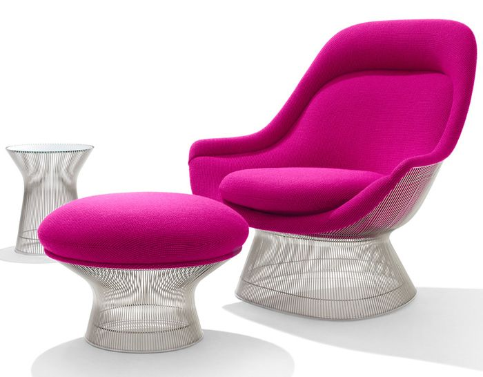 Excellent Platner Easy Chair And Ottoman Shades Of Pink October Beatyapartments Chair Design Images Beatyapartmentscom