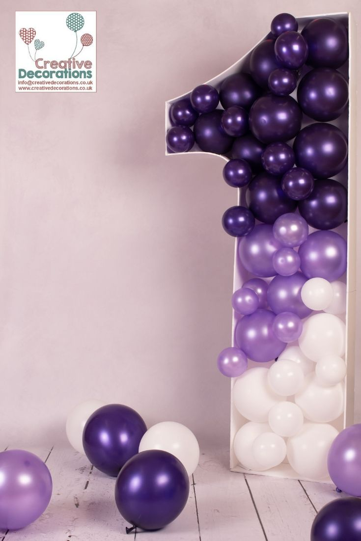 Childrens Party Balloons Purple Party Decorations White Party Decorations Birthday Decorations