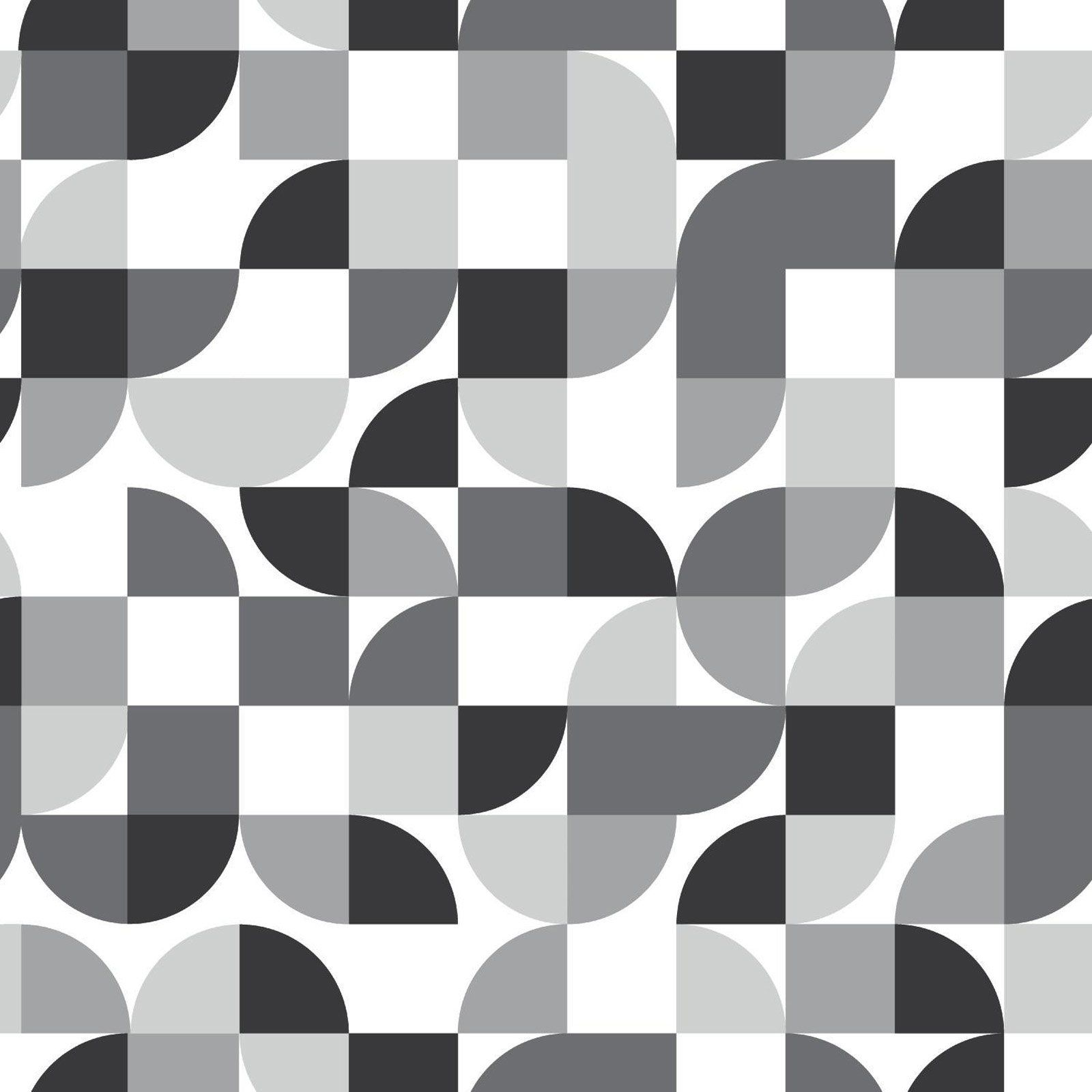RoomMates MidCentury Geometric Peel and Stick Wallpaper