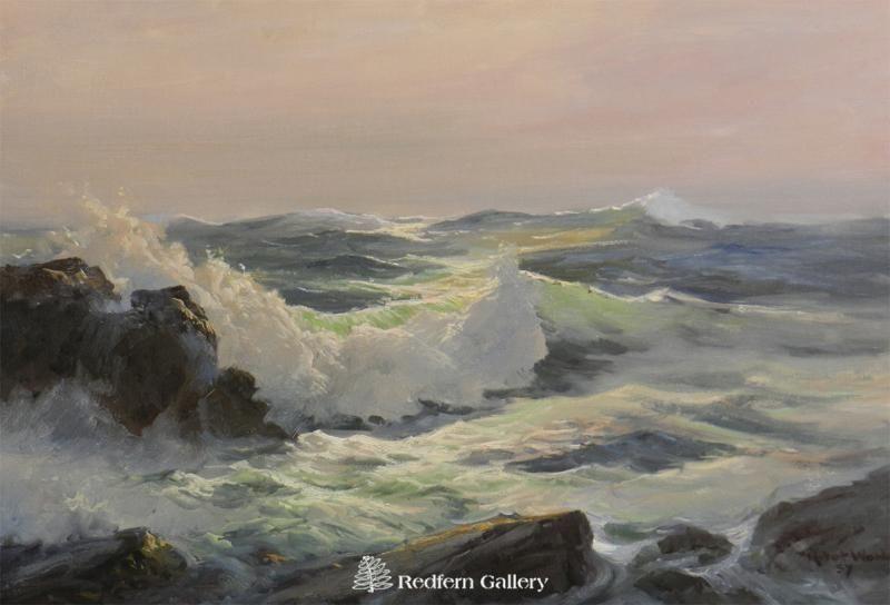 Artist Robert Wood Title Rolling Surf Surf Painting Robert Wood Paintings Ocean Painting