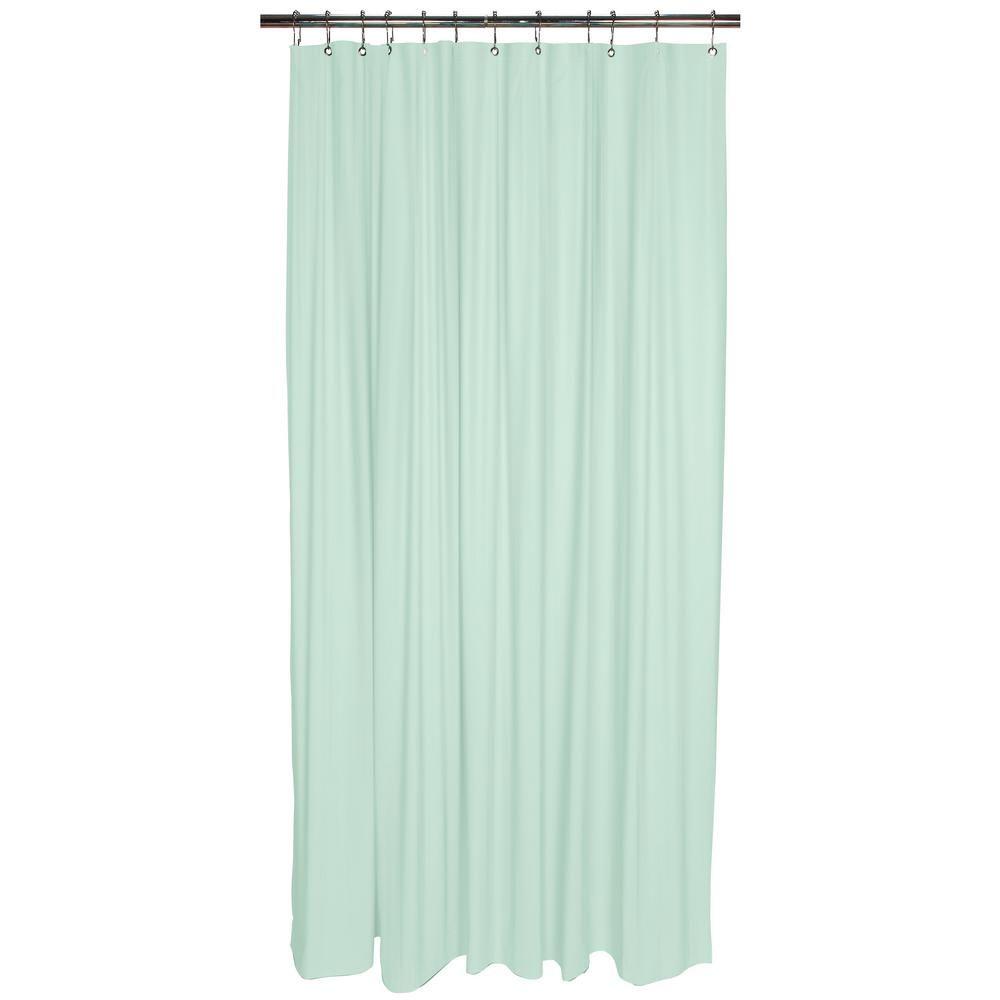 Bath Bliss Heavy Grommet Shower Liner In Mint Green Shower