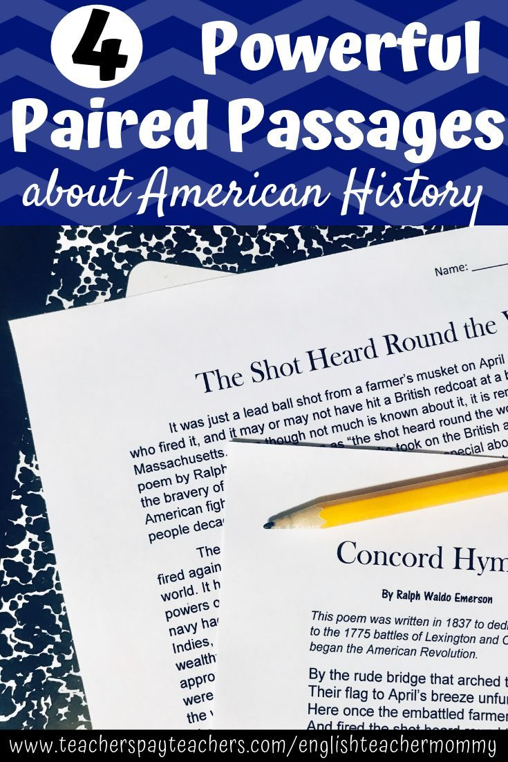 Paired Passages History Poems with Informational Text
