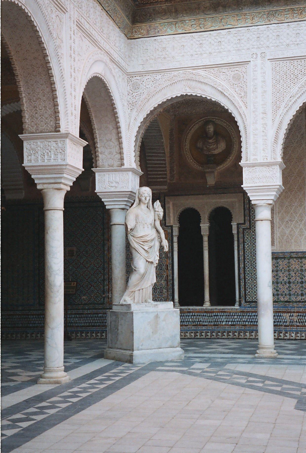 The Beautiful Casa Ducal de Medinaceli, Seville, Spain.