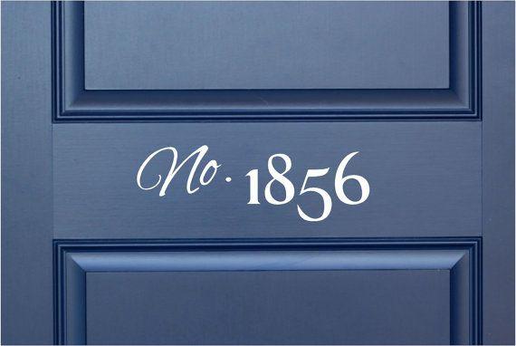Custom House Number Vinyl Door Decal Address Decals Home Office Address Decal Custom House Number Vinyl Decals Vinyl Numbers 10 20x4 8 Vinyl Lettering Vinyl Doors House Numbers