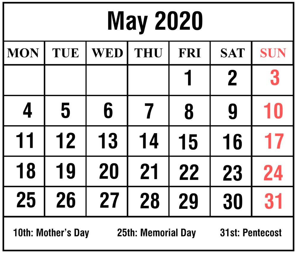 Print May 2020 Calendar Template Free Printable Calendar Template Free Printable Calendar Templates Printable Calendar Word Monthly Calendar Printable