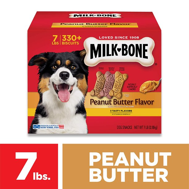 Milk Bone Peanut Butter Flavor Dog Treats 7 Pounds Walmart Com Peanut Butter Dog Treats Milk Bone Dog Treats