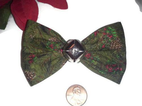 Green Jingle Bell Hair Bow, Holly Hair Bow, Christmas Bows, Holiday Accessories, Jingle Bells, Christmas Gifts, Womens Bows, Holiday Clips - Ebay:  starting bid $3.00