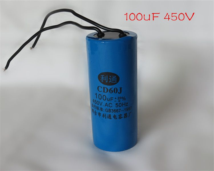 Running Capacitor Cd60 Two Wires 100uf Capacitor For Electric Machine Big Capacitor Bottle Beverage Can Red Bull