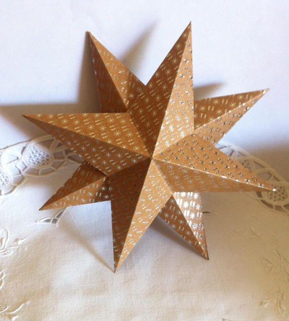 big star cardstock hanging in the house larmoireareves. Black Bedroom Furniture Sets. Home Design Ideas
