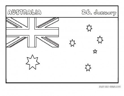 Printable Flag Of Australia Coloring Page Printable Coloring