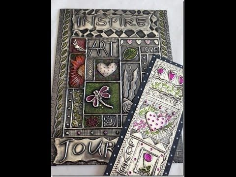 Faux Tin Tiles Made With Cookie Sheets The Whoot Metal Tape Art Pewter Art Metal Embossing