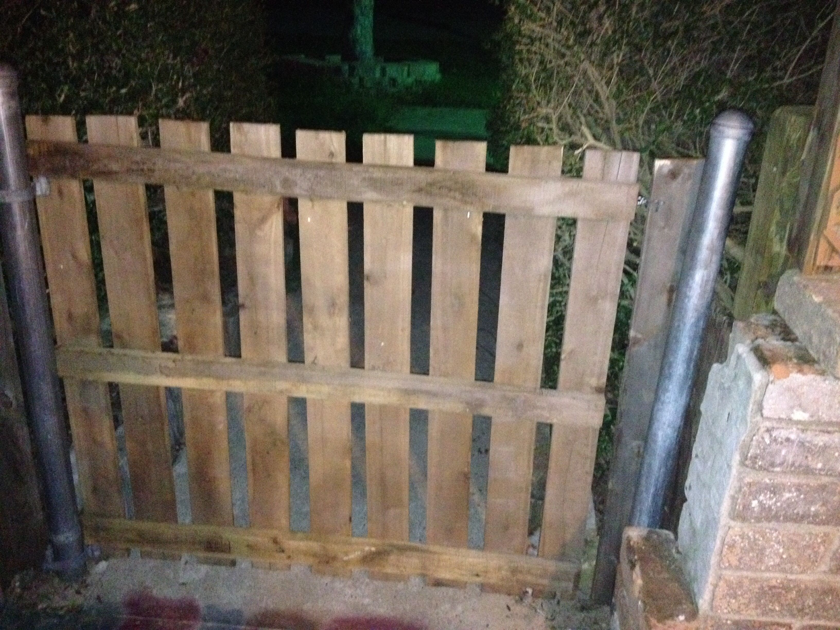 Recycled Pallet Wood Gate Front Porch