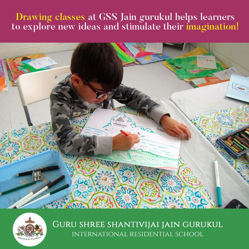 Drawing Classes At Gss Jain Gurukul Helps Learners To Explore New